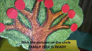 How To Make Family Tree On Chart Paper Family Tree Using Thermocol School Project For Students