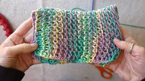 Loom Knitting Patterns For Beginners Enchanting EasyMeWorld Learn The Basic Stitches For Loom Knitting Dish Cloths