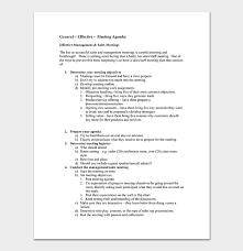 Agenda Outlines Templates Sales Meeting Agenda Template 10 For Word Pdf Format