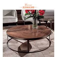 round marble coffee table with stainless steel black finish scale base