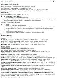 Examples Of Nurse Resumes Interesting Sample Public Health Nurse Resume Sample Public Health Nurse Resume