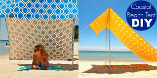 coastal beach tent diy