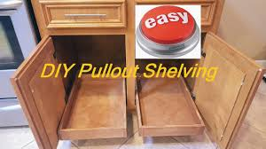 how to install sliding drawers in kitchen cabinets inspirational diy pull out sliding shelving easy