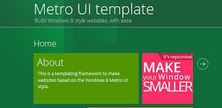 Metro Template Download Free Windows 8 Metro Ui Website Templates Techstroke