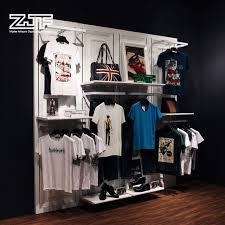 T Shirt Display Stand Simple Clothing Store High Quality Floor Stand Wall Mounted Hanging Rack