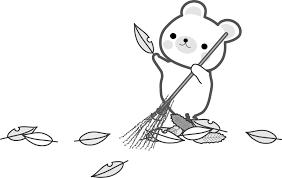 秋冬のイラスト落ち葉 無料イラストフリー素材