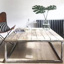 picture gallery of the special wood and metal coffee table design