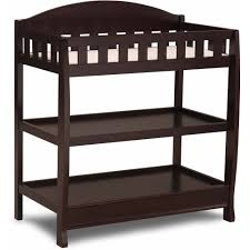 delta children wilmington changing table with pad dark chocolate com