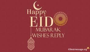 happy eid mubarak wishes reply eid ul