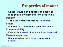 compressibility of solid liquid and gas. ch110 chpt 7 gases properties of matter solids, liquids and can easily be recognized compressibility solid liquid gas s