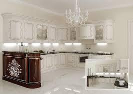 Cucina classica ripiani in marmo per ville classiche idfdesign