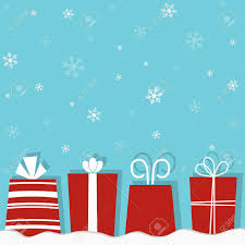 Gifts Background Christmas Gifts On A Snow Background