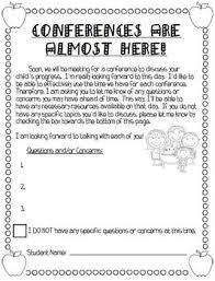 parent teacher conference letter to parents examples parent teacher conference packet parents as teachers