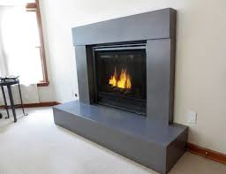 polished concrete fireplace surrounds round designs