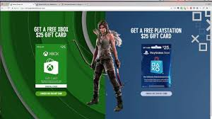 free xbox and ps4 gift card you