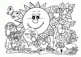 Nice Spring Coloring Pages Printable Part