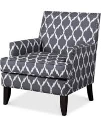 fabric accent chairs. Fine Fabric Kendall Fabric Accent Chair Quick Ship  GreyWhite Inside Chairs T