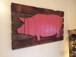 wooden pig wall art butcher chart cow pig chicken fish  on wooden pig wall art with wooden pig wall art butcher chart cow pig chicken fish from