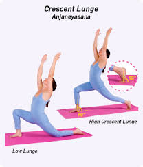 this modified variation on crescent lunge anjaneyasana ahn jah nay ahs uh nuh stretches the hip flexors and thighs while also helping to open the