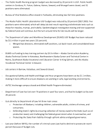 governor s office releases list of budget cuts the midnight sun here is the list as sent by the governor s office