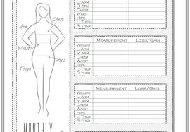 Weight Loss Measurement Tracker Measurement Charts For Weight Loss Magdalene Project Org