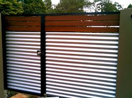 decorative metal fencing beautiful used corrugated metal as fencing