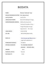 format of marriage resume biodata ideal vistalist co