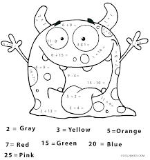 Number Coloring Worksheets For Kindergarten Color By Letter C Free ...