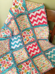 140 best Rag Quilts 2 images on Pinterest | Pointe shoes, Sewing ... & Soft Flannel and Minky Patchwork Rag Quilt~Baby Girl~Riley Blake Hello  Sunshine~ Adamdwight.com