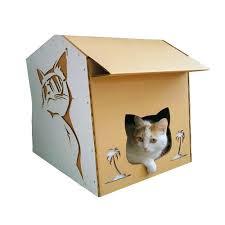 Cat House Modern Cardboard Cat House A Modern Explorer On A Night Out