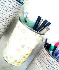 hanging pencil holder recycled cans for organizing pens and pencils wall pen ikea