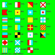 Adopted the joint army/navy phonetic alphabet from 1941 to standardise all branches of its armed forces. Natical Flags Phonetic Alphabet Pendant Banner Semaphore