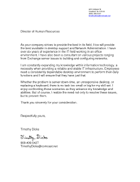 Cover Letter For Network Administrator The Letter Sample