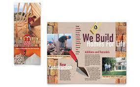 Home Builder Contractor Brochure Template Design