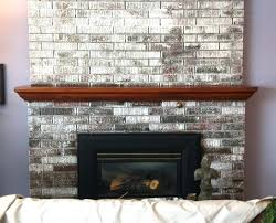 painting a brick fireplace white