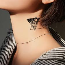 Vankirs временные татуировки наклейки женские черные лампочки волны