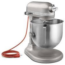 kitchenaid 8 qt. kitchenaid ksm8990np commercial series nsf certified stand mixer, 8-quart, nickel pearl kitchenaid 8 qt