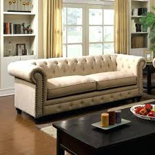 ivory tufted sofa chesterfield inspired rolled arms ivory on tufted sofa w ivory tufted leather sectional