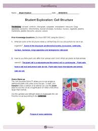 Then click play, wait for a while, and click record data again. Module1 Lesson1 Cellstrucgizmo Shuford Eukaryotes Biology