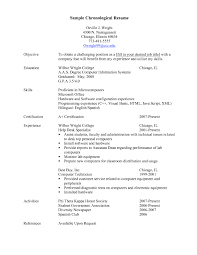 Resume Template Chronological Unique Resume Chronological Order