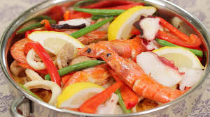 Seafood and Chicken Paella Recipe with ...