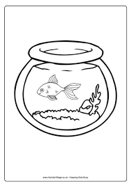 Small Picture Goldfish Bowl Colouring Page