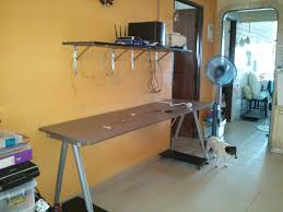 i set up my galant table liao the extension was set wrongly so redo table for 2 desktop 120x60 80x60