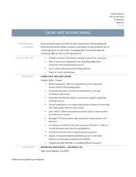 casino host resume template and job description casino host resume template