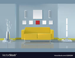 modern living room interior design vector image