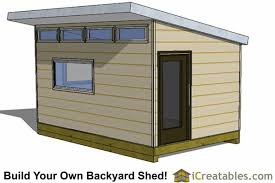 office shed plans. 10x16 Modern Office Shed Plans R