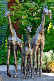 kenyan recycled oil drum giraffe statues