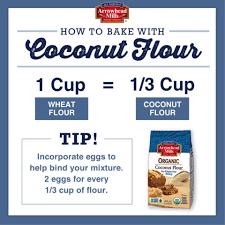 Flour To Coconut Flour Conversion Chart How To Bake With Coconut Flour Coconut Heaven Gluten
