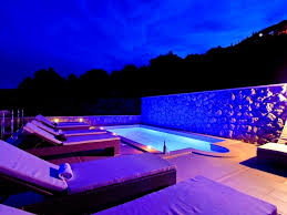 home swimming pools at night. Holiday Home With Private Pool,outdoor Hot Tub And Sea View Swimming Pools At Night I