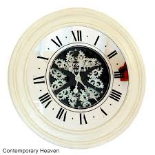large gear wall clock antique style